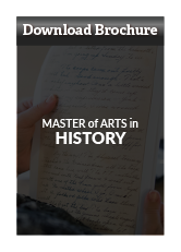 Download Master of Arts in History Brochure