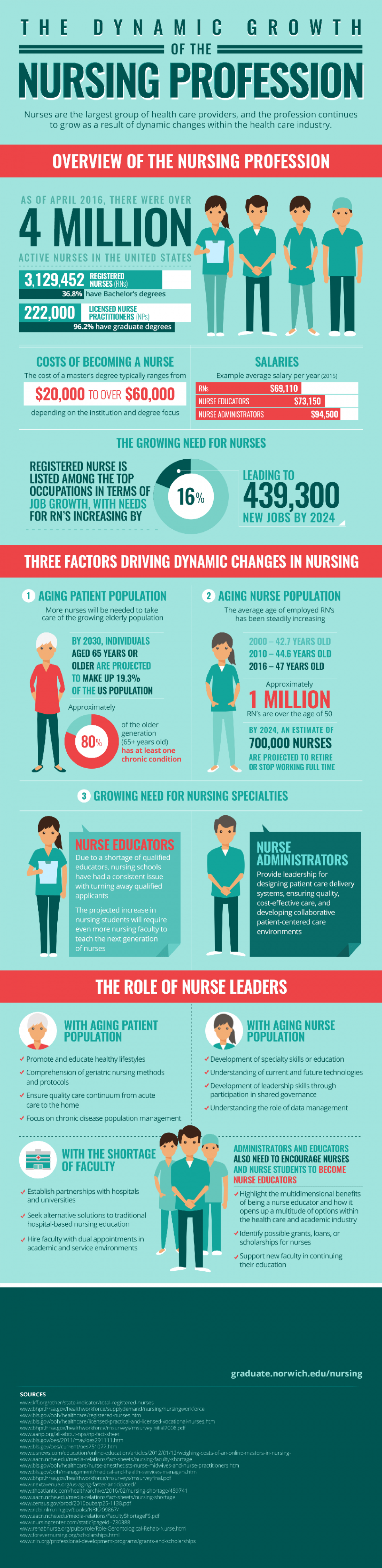 growth of nursing profession infographic image